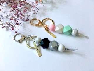 Teething keychain with engraving