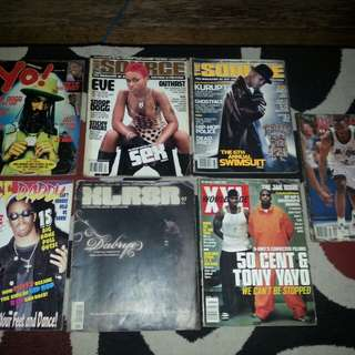 Assorted hiphop magazine 190's