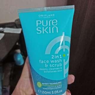 Pure skin face scrub wajah