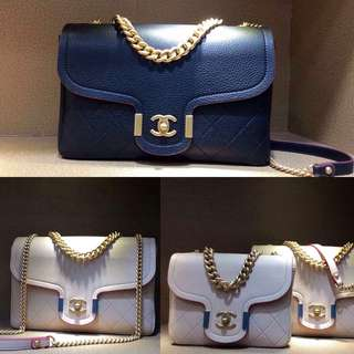 Chanel Grained Calfskin Archi Chic Flap Bag (Just look at the price without looking at quality.Please bypass,Tq)