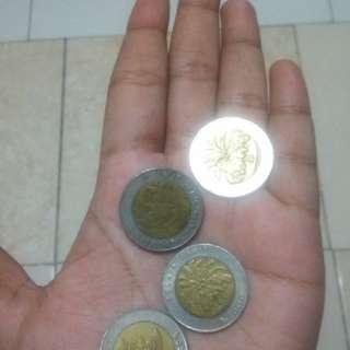 Koin logan kuno 1000 tahun 1996