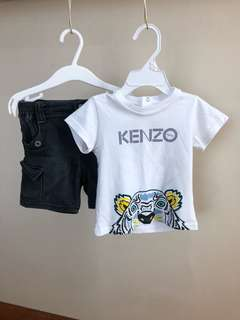 Set Baju Kanak2 Kenzo 12mth
