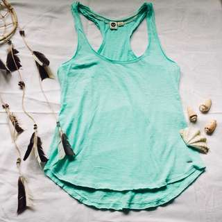 Blue Green Razorback Tank Top