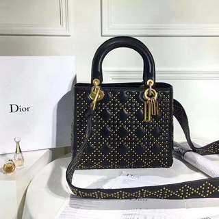 Supple Lady Dior Studded Tote (Just look at the price without looking at quality.Please bypass,Tq)