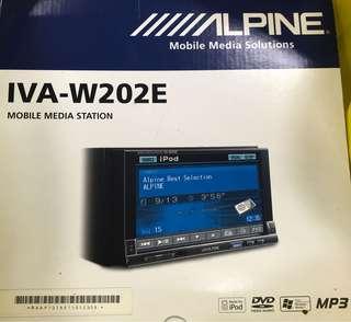 Alpine IVA-202E Double Din AV Head Unit