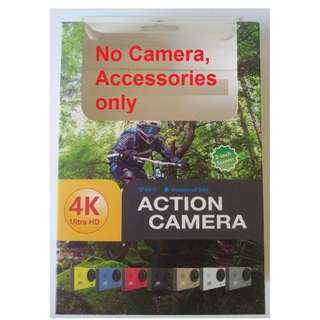 4K Action Camera Accessories only