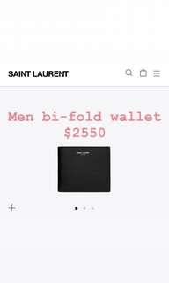 Ysl bifold Wallet