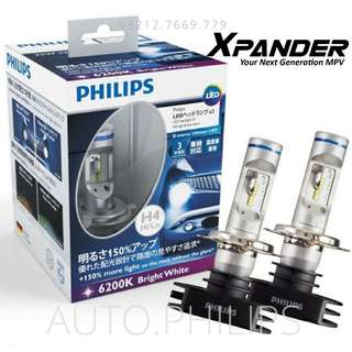 Lampu Depan LED Xpander Mitsubishi H4 Philips Original