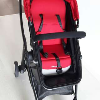 Mamalove red and black baby stroller
