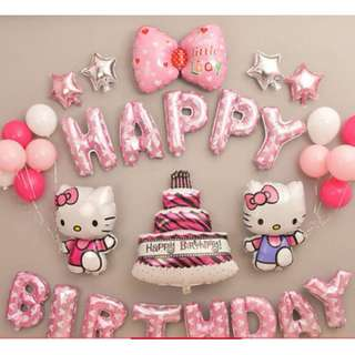 (In Stock)Hello Kitty Theme Party Decoration Set-Happy Birthday