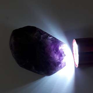 Very nice Flourite rough. Deep Purple and translucent under light.