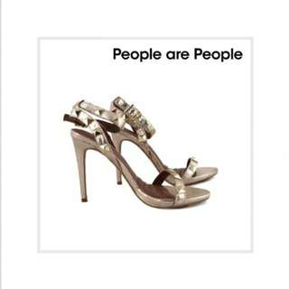 Bnew People R People Gold Stud Shoes