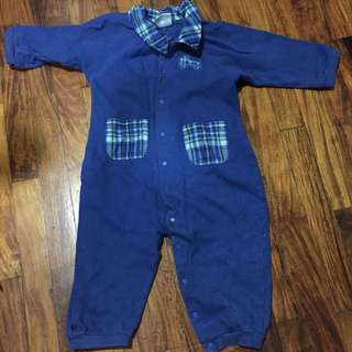 BabyPlace Blue Onesie Size 12 months Needs Cleaning P100 Only
