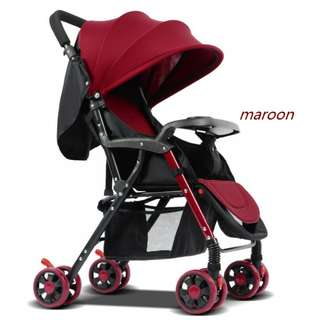 Portable infant deluxe stroller folding aluminum alloy 518C