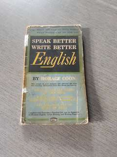 Speak Better Write Better English