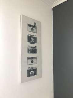 Film camera canvas wall decor (typo)