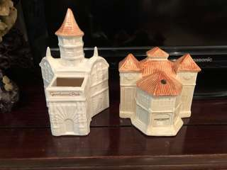 Vintage Ceramic Model of Goodwood Park and Singapore Alkaff Mansion