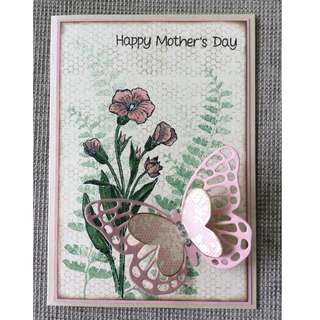 Handmade Vintage Butterfly Mother's Day Card