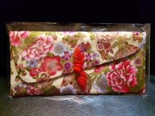 💖花開牡丹富貴手工布製開運紅包袋