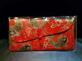 💖紅黃金鯉魚手工布製開運紅包袋