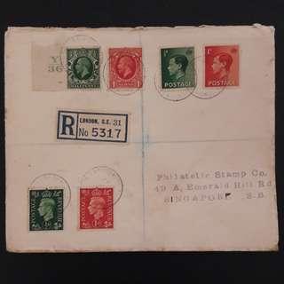 6 pcs GB stamps