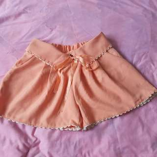 Peach color Skort