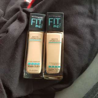 Any 2 for RM40 Maybelline FitMe Foundatio