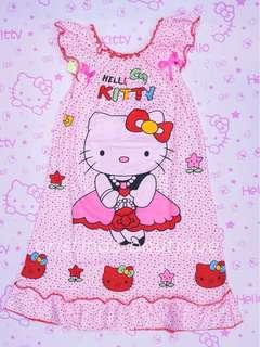 Hello Kitty Cotton Garterized Dress