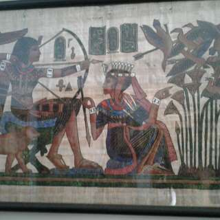 Egyptian papyrus art original