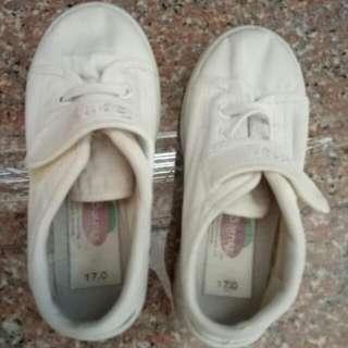 Kids' white shoes