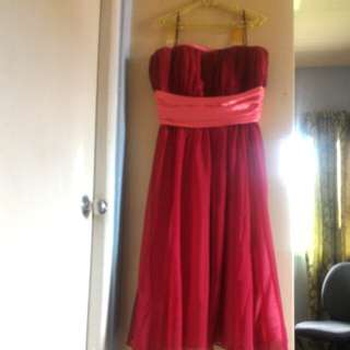 Repriced!Red wine gown