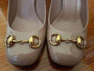 Authentic Gucci Horse Pit Heels size 36.5