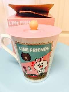 🚚 全新line friends可收納馬克杯附蓋組 #攪拌棒不見了!不介意再下標