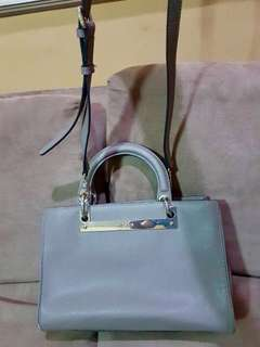 DKNY Gray Leather Bag