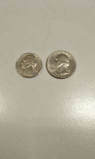 USA 1965 and 1964 coins