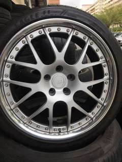 """Used 19"""" BC forged rims and tyres"""