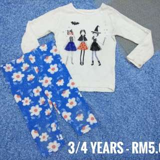 3/4 years - Kids Cloth Shirt Dress Baby Girl Boy