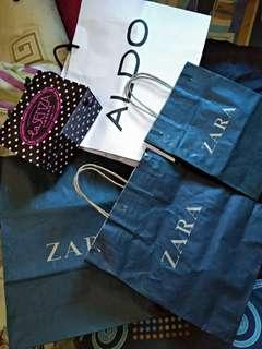 Paperbag Zara, Lasenza, Aldo, etc.