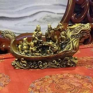 8 Immortals On Dragon Boat Chinese  Feng Shui Ornament