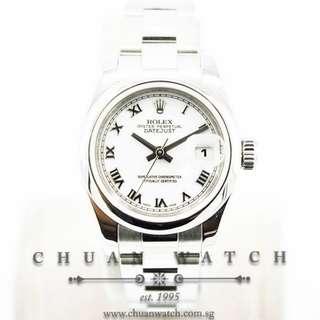 Pre-Owned Rolex Ladies' DateJust 26mm 179160 White Roman
