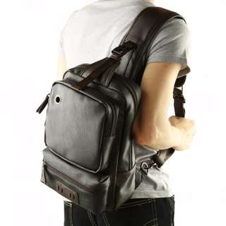 ORIGINAL Fashion style PU leather mens chest bag single backpack #9009