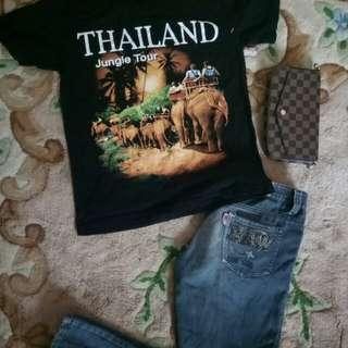 Kaos + celana panjang
