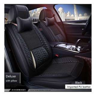 Quality PU leather Deluxe 1st & 2nd row Car seat cover
