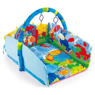 I-baby softy cotton playing mat with toys-AB34641