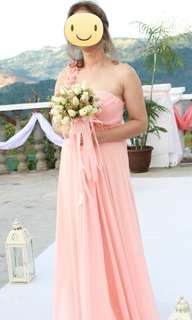 Formal peach gown