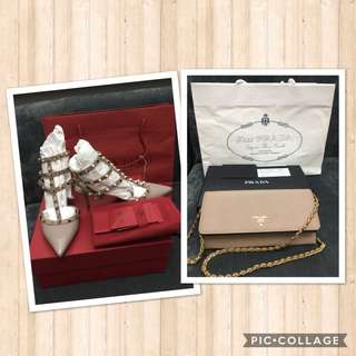 Valentino & Prada Wallet on Chain! Discounted!!