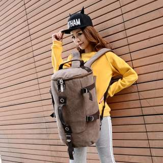 ORIGINAL Korean fashion UNISEX canvas backpack traveling bag #7992