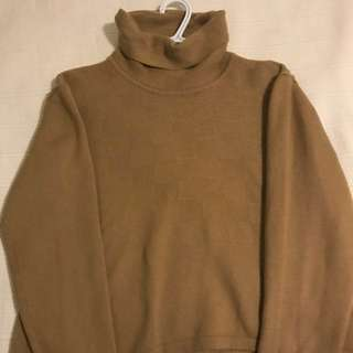 Camel Semi-Cropped Sweater