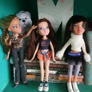 Authentic Bratz doll collections(3pcs)