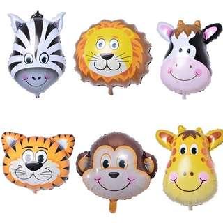 Animal safari foil balloons